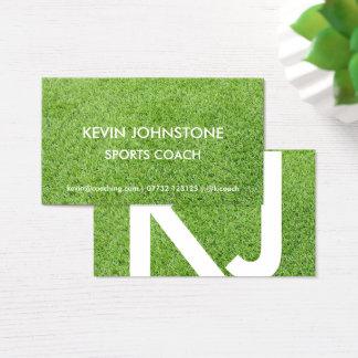 Carte de visite d'entraîneur de sports (herbe)