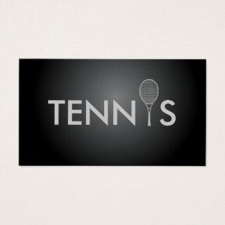 Carte de visite d'entraîneur de tennis