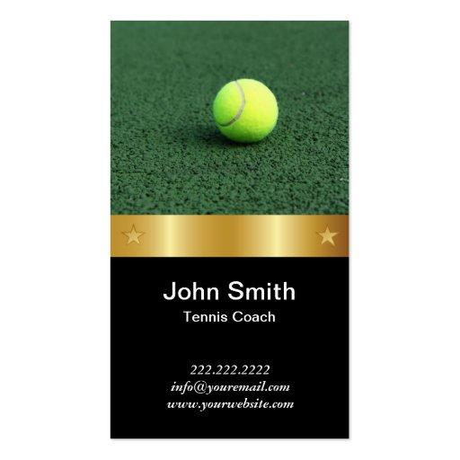 Carte de visite d'entraîneur de tennis de ceinture
