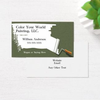 Carte de visite d'entrepreneur de peinture