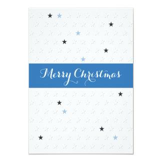 Carte de visite d'étoile de Noël très Joyeux Invitation