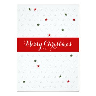 Carte de visite d'étoile de Noël très Joyeux Invitation Personnalisable