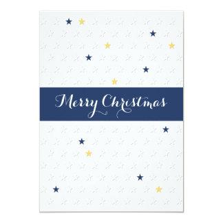 Carte de visite d'étoile de Noël très Joyeux Faire-parts