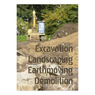 Carte de visite d'excavatrice