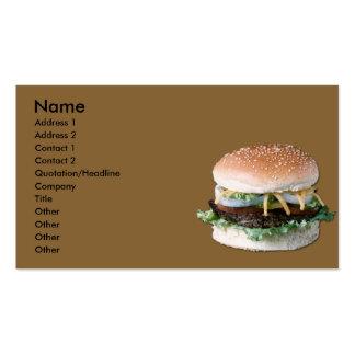 Carte de visite d'hamburger