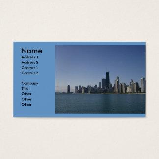 Carte de visite d'horizon de Chicago