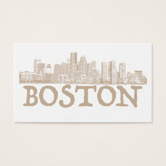 Carte de visite d'horizon de ville de Boston