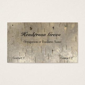 Carte de visite d'impression en bois de bouleau