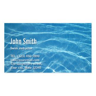Carte de visite d'instructeur de bain de l'eau de