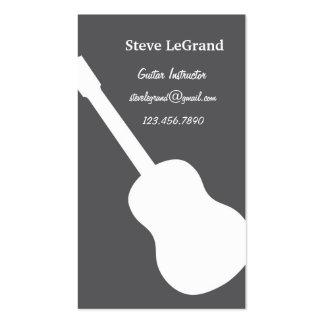 Carte de visite d'instructeur de guitare