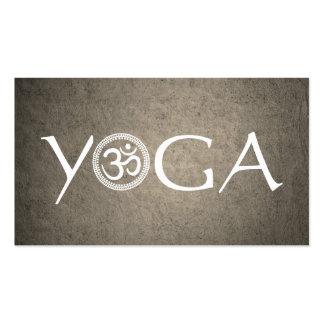 Carte de visite d'instructeur de yoga