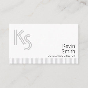 Carte De Visite Directeur Commercial Simple Moderne