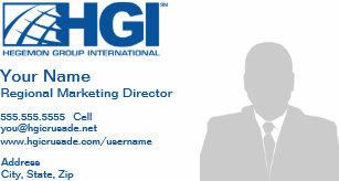 Carte De Visite Directeur Du Marketing Rgional HGI Photo