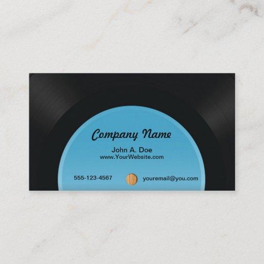 Carte De Visite Disque Vinyle