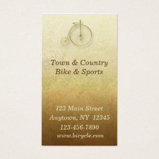 Carte de visite d'or de bicyclette