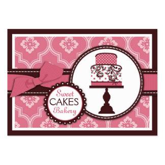 Carte de visite doux de gâteau