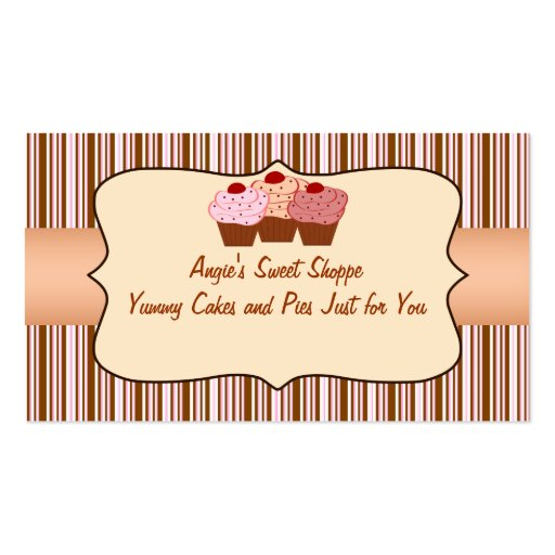Carte de visite doux de petit gâteau de magasin
