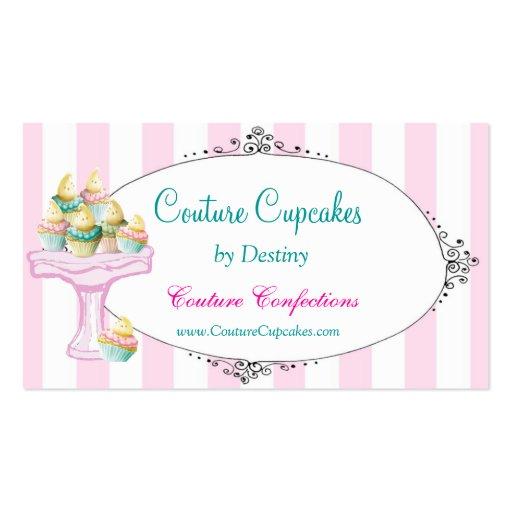 Carte de visite doux de petits gâteaux de destin