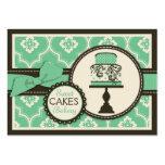 Carte de visite doux Teal de gâteau
