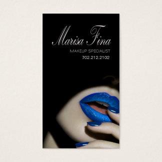 Carte de visite dramatique de maquilleur de lèvres