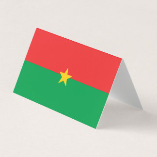Carte De Visite Drapeau de Burkina Faso