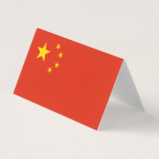 Carte De Visite Drapeau de la Chine