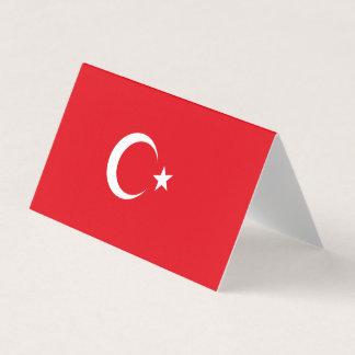 Carte De Visite Drapeau de la Turquie