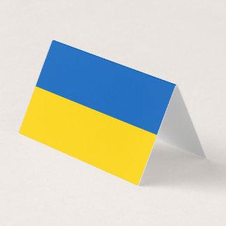 Carte De Visite Drapeau de l'Ukraine