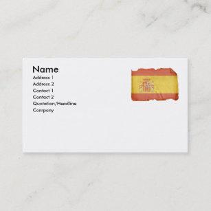 Carte De Visite Drapeau Espagnol