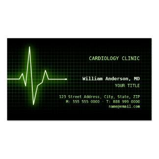 Carte de visite du battement de coeur ECG