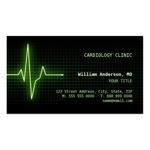 Carte de visite du battement de coeur ECG d'impuls