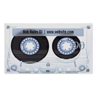 Carte de visite du DJ de cassette audio