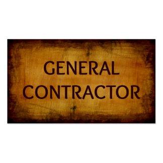 Carte de visite du Général Contractor