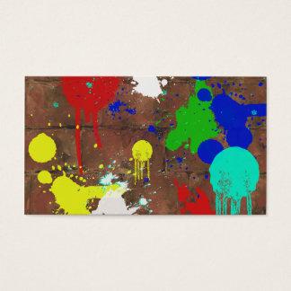 Carte de visite éclaboussé de peinture