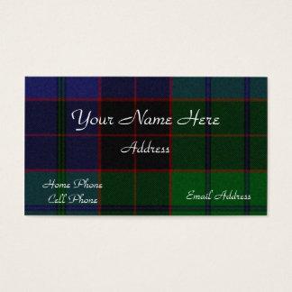 Carte de visite écossais de plaid de tartan