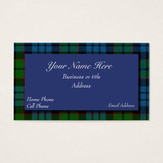 Carte de visite écossais de plaid de tartan de