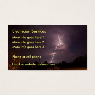 Carte de visite électrique de foudre d'électricien