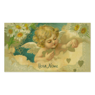 Carte de visite élégant d ange d angélique officin