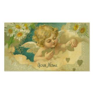 Carte de visite élégant d'ange d'angélique officin