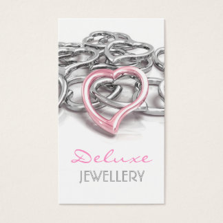 Carte de visite élégant de bijoutiers