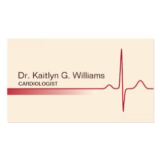 Carte de visite élégant de cardiologue de vague d