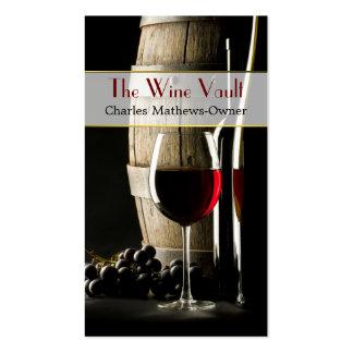 Carte de visite élégant de coutume de thème de vin