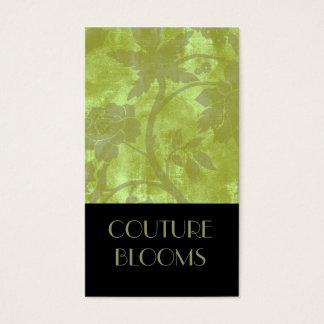 Carte de visite élégant de fleuriste de couture