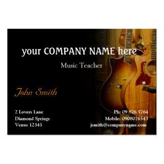 Carte de visite élégant de guitare