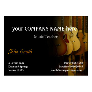 Carte de visite élégant de guitares