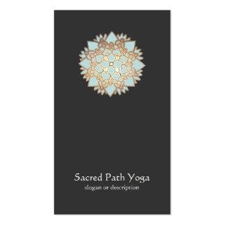 Carte de visite élégant de mandala de fleur de Lot