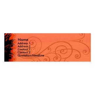 Carte de visite élégant de pavot