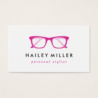 Carte de visite élégant de rétros lunettes