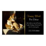 Carte de visite élégant de soin des animaux famili