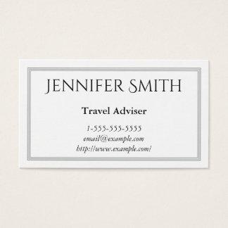 Carte de visite élégant et moderne de conseiller